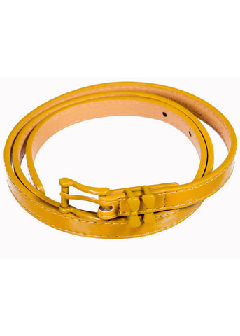 Banned Come Back Bow 50's Belt Mustard