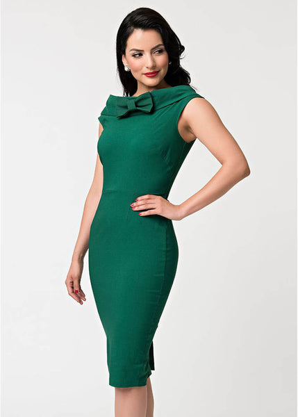 Unique Vintage Barbie Sheath 60's Pencil Dress Green