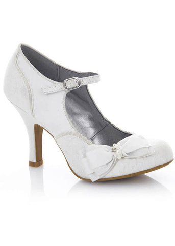 Ruby Shoo Maria Pumps White Silver