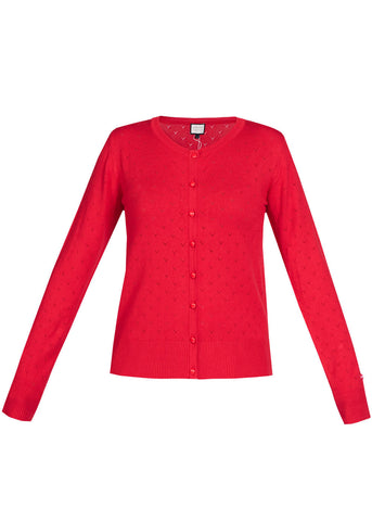 Mademoiselle Yéyé Some Cosiness 60's Cardigan Red