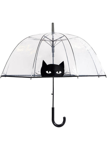 Loving Rain Dome Umbrella Peeping Cat