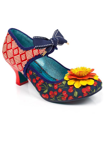 Poetic Licence Golden Daisy Pumps Red
