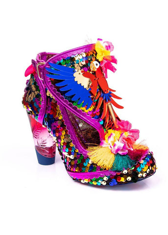 Irregular Choice Bellissima Parrot Pumps Purple Multi