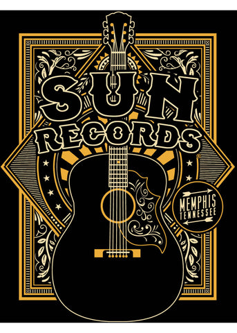 Rock Steady Mens Sun Records Sun Crescent T-Shirt Black