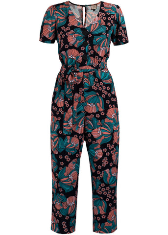 Mademoiselle Yéyé It's A Fab World 70's Jumpsuit Flowers Multi