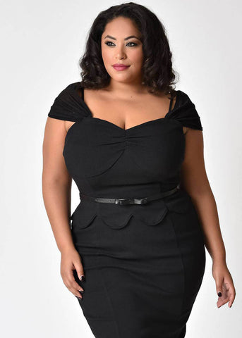 Unique Vintage presents Janie Bryant: St. Regis 50's Wiggle Dress Black