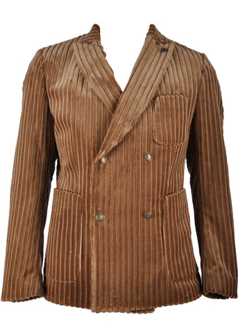 Club of Gents Saville Row Caspar Velvet Corduroy Jacket Brown
