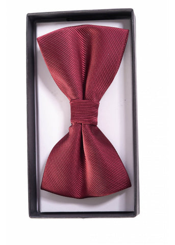 Banned Ribbon Dance Bowtie Burgundy