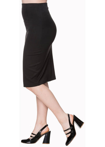 Banned Paula 50's Pencil Skirt Black