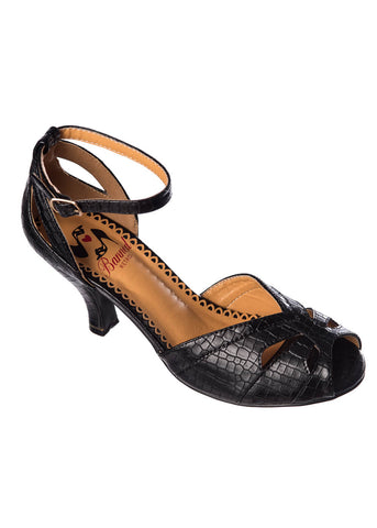 Banned Indiscreet 50's Pumps Black