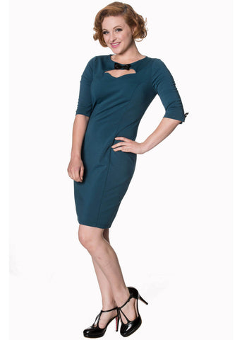 Banned Allure 40's Pencil Dress Teal