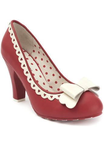 Lola Ramona June Cheers Darling 50's Pumps Red Crème
