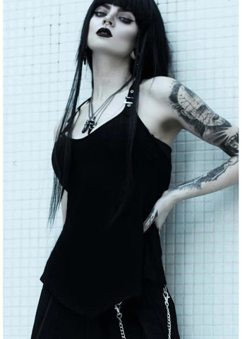 Killstar Danika Straps 80's Top Black