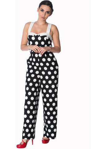 Banned Dotty About You 60's Jumpsuit Black