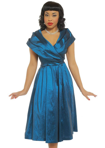 Lindy Bop Amber Gala 50's Dress Blue