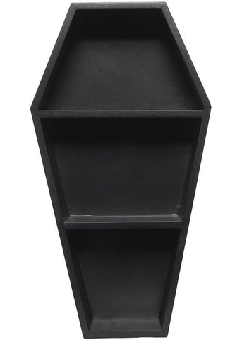Sourpuss Coffin Wall Shelf Black