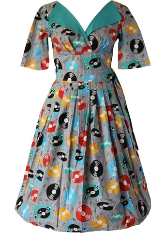 Victory Parade Records Revere 50's Swing Dress