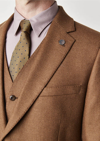 Gibson London Hewett Camel Colbert Jacket Brown