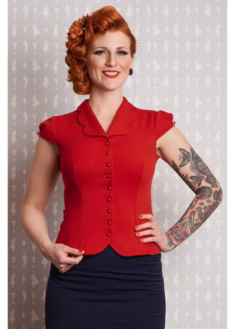 Miss Candyfloss Isidora 40's Blouse Red