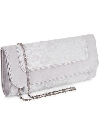 Ruby Shoo Charleston Clutch Silver