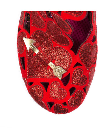 Irregular Choice Meile Hearts Pumps Red