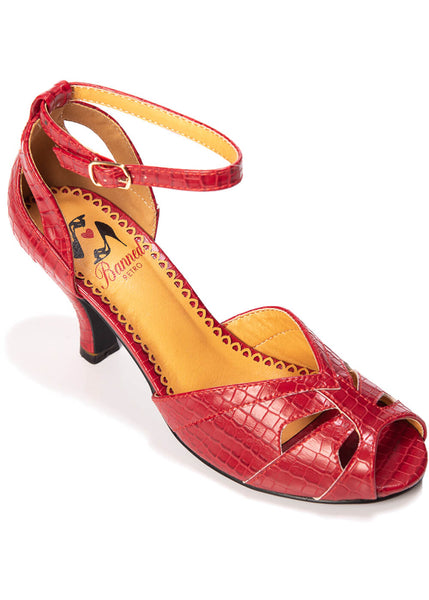 Banned Indiscreet 50's Pumps Red