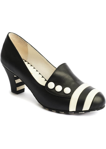 Lola Ramona Ava Working It 60's Pumps Black Cream