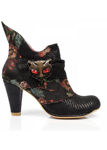 Irregular Choice Miaow Ankle Boot Black
