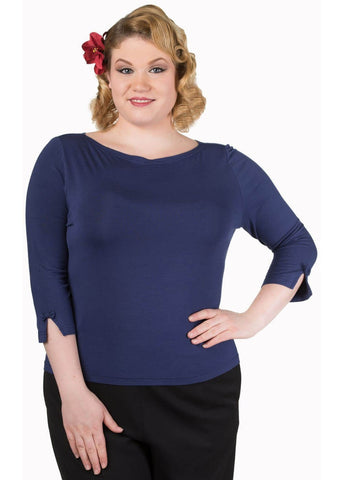 Banned Modern Love Top Navy