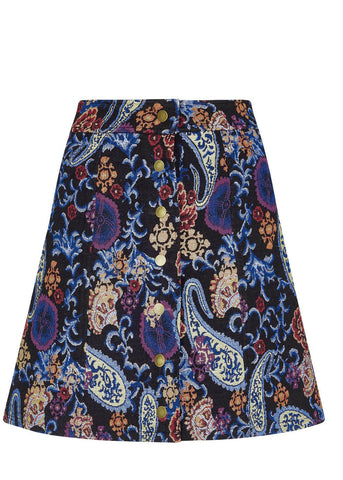 Bright & Beautiful India Paisley 60's Skirt