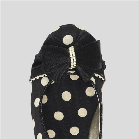 Ruby Shoo Rhea Spots 50's Pumps Black