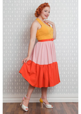 Miss Candyfloss Lorena Sun 50's Swing Dress Yellow