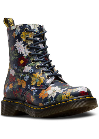 Dr. Martens 1460 Pascal Darcy Floral Backhand Boots Navy