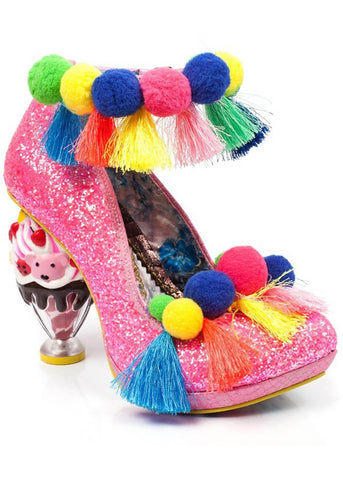 Irregular Choice Arctic Roll Pumps Pink