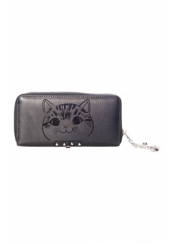 Banned Delicatty Cat Wallet Black