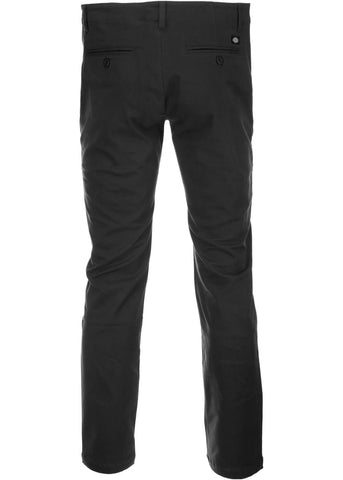 Dickies Mens Kerman Skinny Fit Chino Trousers Black