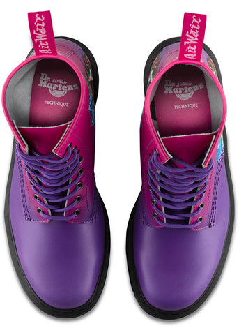 Dr. Martens 1460 Technique New Order Lace-up Boots Pink Purple