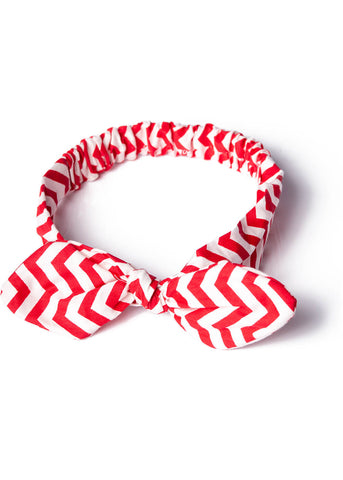 Banned Laura's 60's Headband Red White