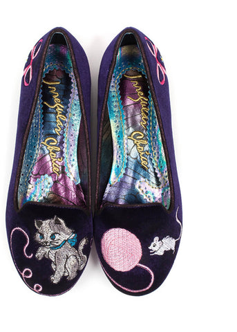Irregular Choice The Cats Miauw Flats Purple