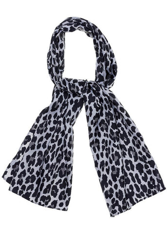 Sourpuss Sjaaltje Bad Girl Leopard Grey