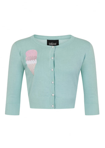 Collectif Lucy Ice-Cream 50's Cardigan Mint