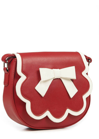 Banned Rocco Bow Bag Red White
