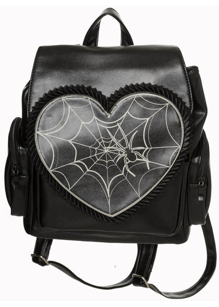 Banned Rockwell Love Web Backpack Black