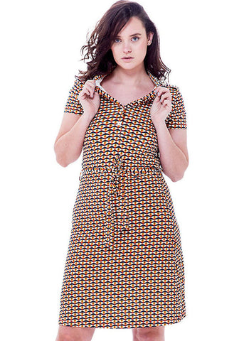 Bakery Ladies Polo I See You 60's A-Line Dress Ginger