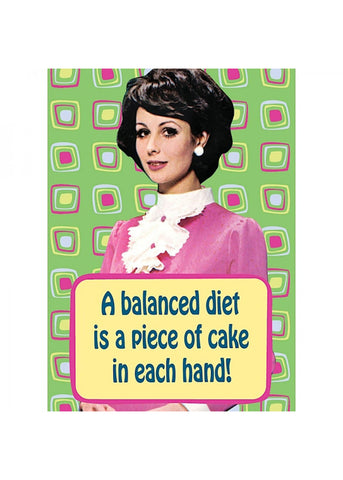 Retro Fun Magnet A Balanced Diet