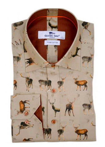 Claudio Lugli Men Shirt Stags