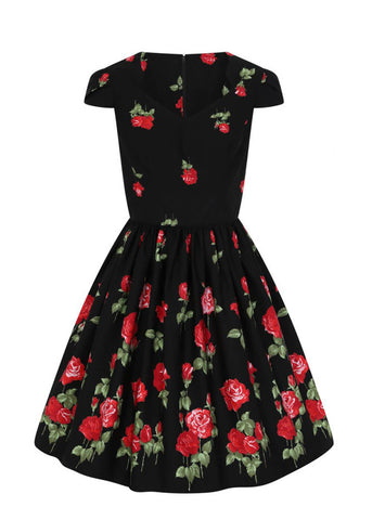 Hell Bunny Antonia Mid 50's Swing Dress Black
