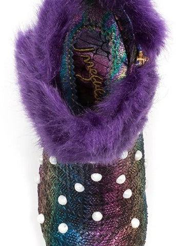 Irregular Choice Snow Empress Penguin Booties Purple