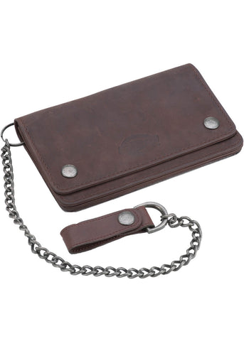 Dickies Deedville Leather Wallet Brown