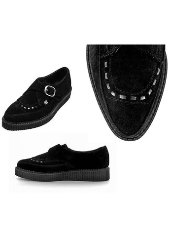 T.U.K Pointed Buckle Creeper Black